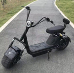 CRONY Big Harley BT Speaker tyre Double Seat Electric motorcycle -BLACK