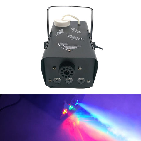 RGB LED FOG-400 Fog Machine,Smoke Machine hood portable LED light with wired and wireless remote control