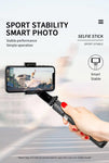 L08 Cradle head selfie stand Anti-Shake  for iOS and Android | White