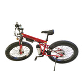 FB-EM028 26-inch Fold Electric Bike 36V Lithium Battery Powerful Sand Ebike | Red