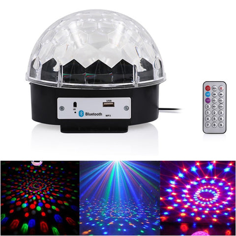3C magic ball with BT music Party Light With Bluetooth Crystal Disco Ball Multicolour
