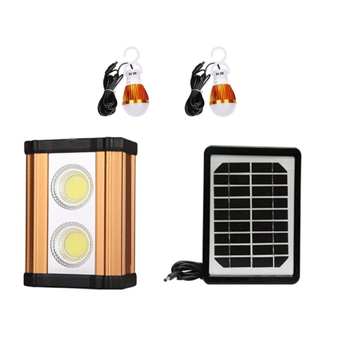 High power 10w solar aluminum lamp with USB charging interface automatic COB emergency light