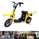 CRONY Express motorcycle Max Speed 50KM/H Distance 50-150 KM Meal delivery Electronic Scooter Maximum Load 200 KG Aluminum alloy frame | yellow