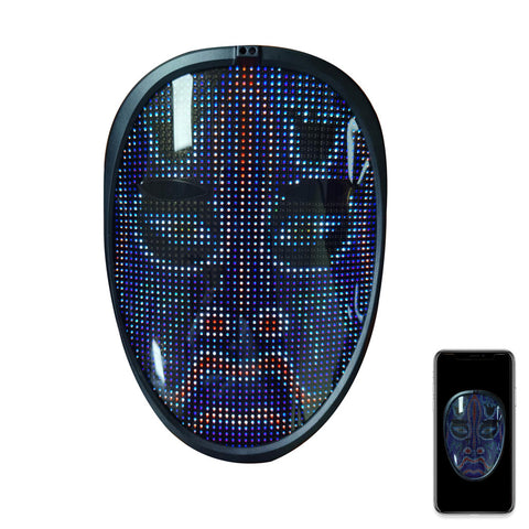 Shining App Mask RGB Waving Gesture Sensing Bluetooth APP Programmable Face Changing Led Display Maskes
