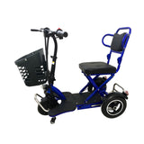 CRONY V3 Electric folding mobility scooter Maximum load 150kg  Max Speed 20KM/H Folding Lightweight Portable Powerchair for Elderly and Medical | BLUE