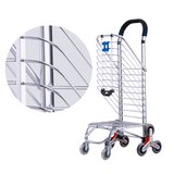 CRONY 8 Wheels Dual Purpose Shopping Cart Lightweight Shopping Trolley Bag With Seat,Folding Shopping Cart,Supermarket Shopping Trolley