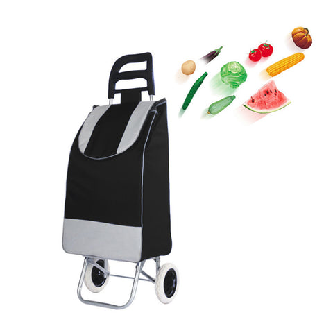 CRONY SC001 Shiping Cart Shopping Trolley Bag Folding Shopping Cart Collapsible Trolley Bag | black