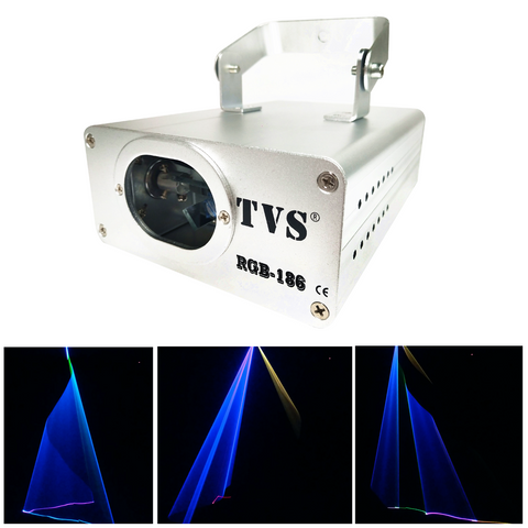 RGB-186 Laser 12W RGB LED Laser Landscape Projector 3D Lamp Disco Stage Party Effect Light