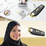 2019 New B11 Handheld USB Battery Charger Aromatherapy Portable Arabic Electric Bakhoor Incense Burner | White+Golden