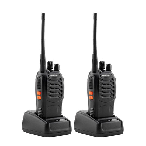 2 Pcs Walkie Talkies BF-888S Baofeng Handheld Two Way Radios Battery and Charger - Edragonmall.com