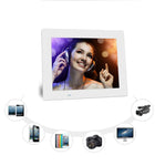 7 Inch Digital Photo Frame Display Photo/Music/Video Player Calendar Alarm Auto On/Off Timer, Support USB Drives and SD Card, Remote Control