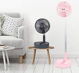 Telescopic speaker fan with Wireless Speaker and Aroma Fragrance Diffuser Portable | Pink