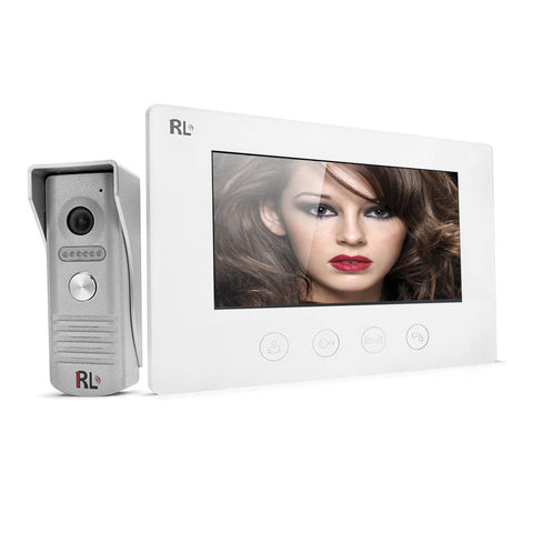 "RL-B17F 7"" High Definition Color Video Camera Intercoms Entry Access Control System Door Phone Doorbell"