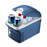 CRONY Small Refrigerator Cool Box Low Noise Compact Refrigerators Car Refrigerator Mini Fridge 8L-Portable Cooler Electric Cooler