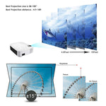 E400A Smart Projector Ram HD 3D WiFi miracast 2500 Lumens Home Cinema Projector