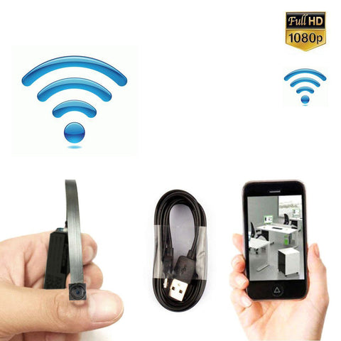 CRONY W3-T Super Mini Wireless Camera WiFi Connection HD 1080P BVCAM Remote View Slot Microphone Audio Camcorder