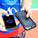ES986S-Business Power Bank Solar Charger Qi Wireless Power Bank