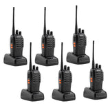 6 Pcs Walkie Talkies BF-888S Baofeng Handheld Two Way Radios Battery and Charger