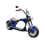 X1 Harley Electrocar car 2000W Citycoco Fat Tire Electric motorcycle-Blue