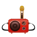 SDRD Sd-501 Home Speaker Microphone Integrated Single Sing Mobile Phone Karaoke | Red