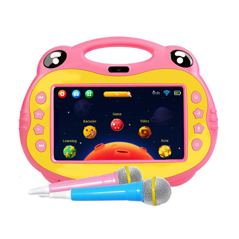 P06 7inch kids tablet with sim, Karoke Video Learning, Android - Pink