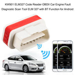 Konnwei KW901 OBD2 Car Bluetooth 3.0 Scanner ELM327 Car Diagnostic Tool - RED-2