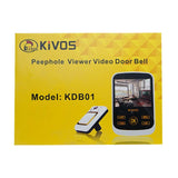 KDB01 Digital Video Doorbell 3.5 Inch Wireless Viewer Doorbell Night-Vision Door Eye Peephole