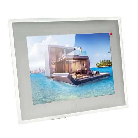 Crony 15 inch Wi-Fi Cloud Digital Photo Frame, iPhone & Android app, TFT LCD with High Resolution -White - edragonmall.com