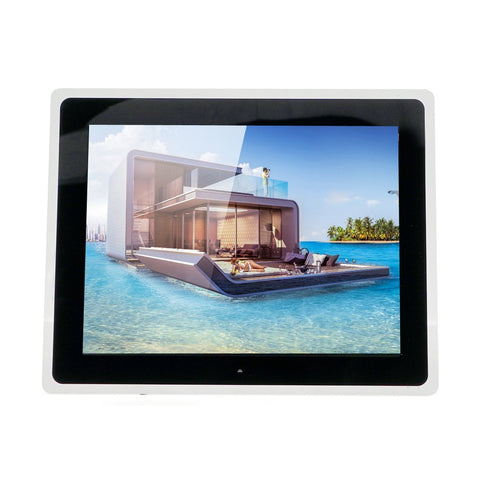CRONY 12inch Photo Frame HD Digital Picture Frame Supports Music, Video & Film | Black