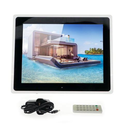 Crony 15 inch Wi-Fi Cloud Digital Photo Frame, iPhone & Android app, TFT LCD with High Resolution -Black - edragonmall.com