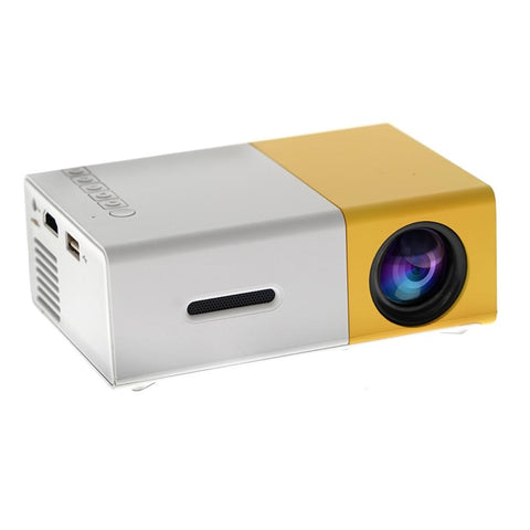 YG300 LCD LED Projector 400-600 Lumens 320 x 240 Pixels 1080P Home Media Player With Remote Control -Yellow
