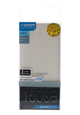 Veger 15000mAh Power Bank for Smart Phones - V58 - edragonmall.com