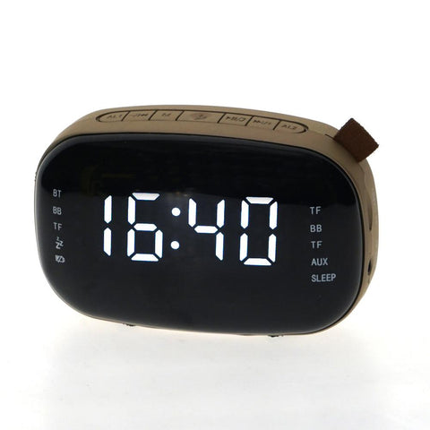 Bluetooth speaker with clock Bell Machine - edragonmall.com