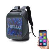 CRONY LED display backpack us-b002 B Novelty Smart LED Backpack Fashion Black Customizable Laptop Backpack Creative Christmas Gift School Bag