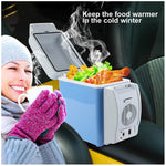 Car Icebox 7.5L Dual Function Mini Car Refrigerator Food and Beverage Cooler and Warmer
