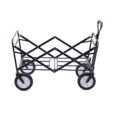 CRONY Heavy Duty  Collapsible Folding  Wagon Utility Shopping Outdoor Camping Garden Cart with Universal Wheels & Adjustable Handle | BLUE