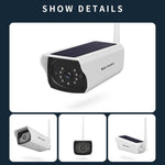 YN60-solar WIFI camera 1080P HD Security Surveillance Audio