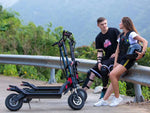 CRONY Q12 Max Speed 90 KM/H dual-drive high-speed SUV electric scooter , Max.Range 100km Front and rear hydraulic brakes Aluminum alloy frame | Black