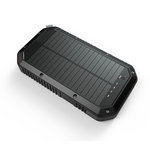 ES982-Business Power Bank Portable waterproof outdoor mobile wireless charger solar power bank 20000mAh