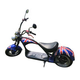 CRONY X1 Harley Electrocar car Citycoco Fat Tire Electric motorcycle | Flag