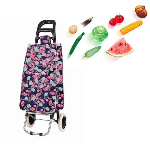 CRONY SC002 Shiping Cart Shopping Trolley Bag Folding Shopping Cart Collapsible Trolley Bag
