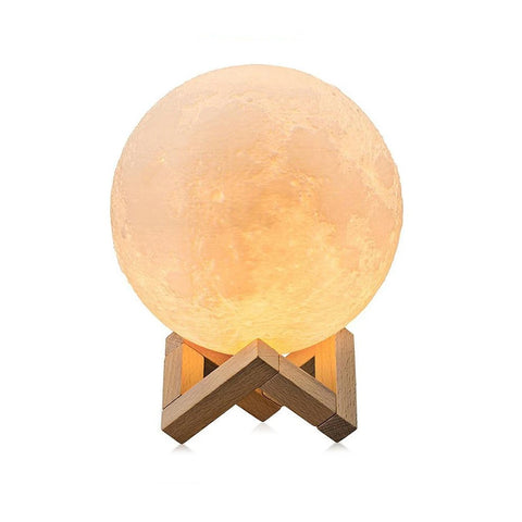 M16 3d Moon Light Wireless Remote Moon Lamp Multicolour
