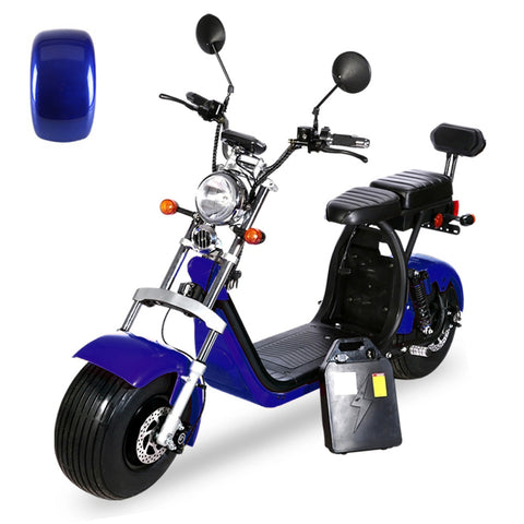 G-029 High Speed Harley tyre Double Seat with double battery 60V 3000W 80km/h | Blue