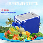 28L two-chair plastic incubator with desk and chair Multi-function picnic table with cooling incubator | Red