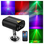 12 patterned double holes Laser stage light Quality remote control mini stage light ,RGB laser stage light for party