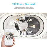 SVP720 HD 1080P Mini 720 Degree Wireless WiFi VR IP Camera Full View Fish Eye Panoramic Indoor Security Camera