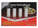 4-Way Intercom Audio Doorphone Loudly Clear Voice Doorbell Kit Easy to Install -RL-0004 - edragonmall.com