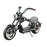 CRONY X1 Harley Electrocar car Citycoco Fat Tire Electric motorcycle | Black spider