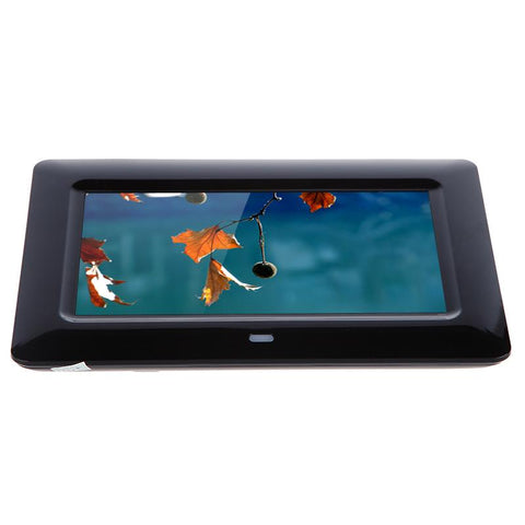 Crony 7 Inch HD Digital Photo Frame, 10GB Storage, Supports Remote Control Player Stereo MP3 Time -Black - edragonmall.com