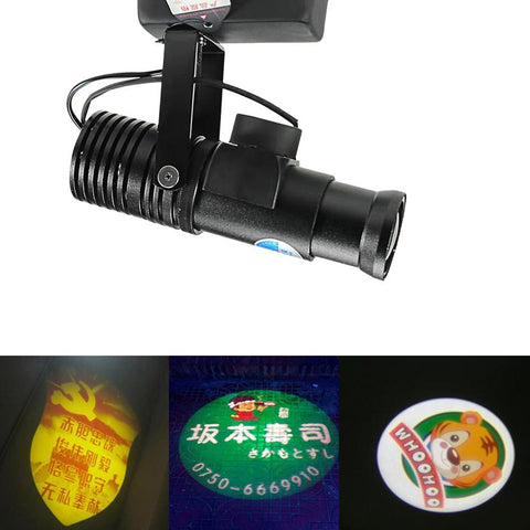 LED HD Projection Advertising DIY LOGO Custom Lmage Projector Lamp 20W Shop Mall Restaurant Welcome Laser Sense Timing Light